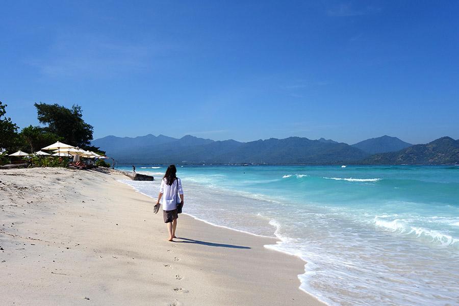 indonesie gili air plage beach sable