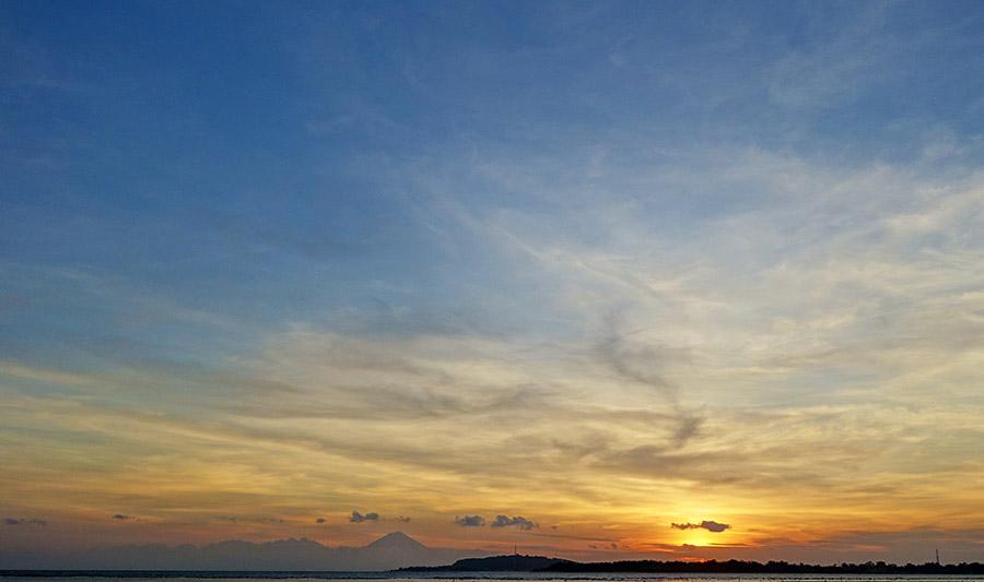 indonesie gili air plage sunset coucher soleil