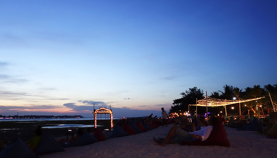 indonesie gili air plage sunset coucher soleil