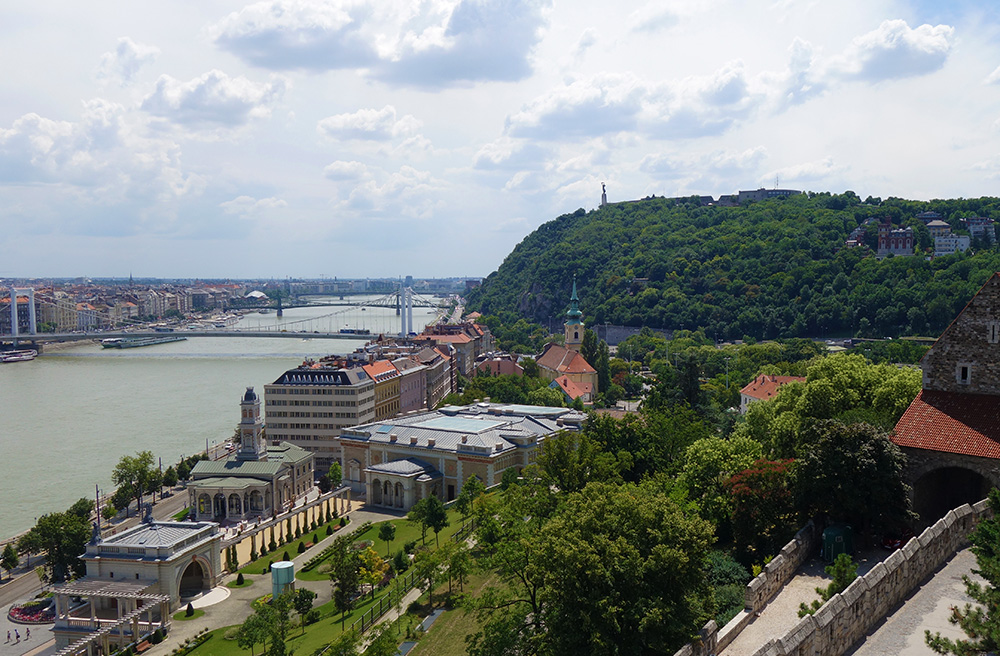 hongrie budapest castle garden jardin chateau vue panorama danube