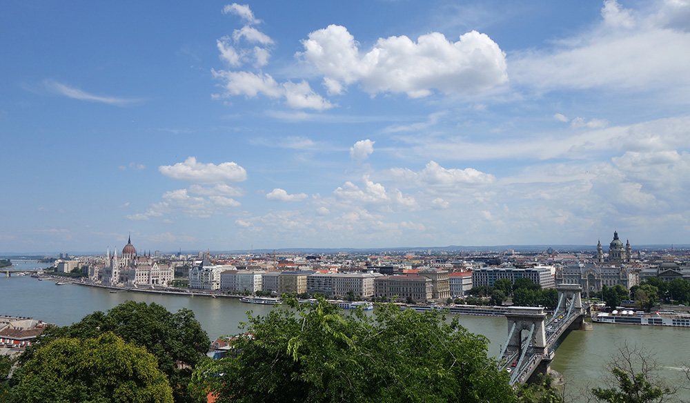 hongrie budapest chateau vue panorama danube