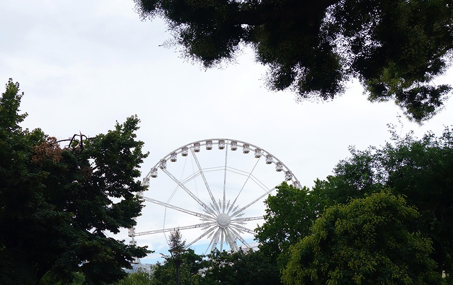 hongrie budapest parc erzsebet grande roue eye