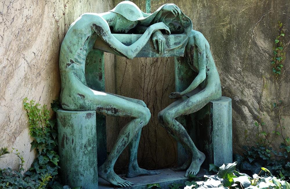 italie milan cimetiere monumental statue