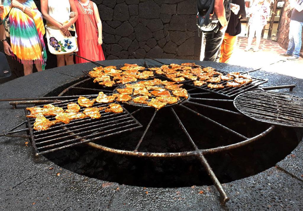canaries lanzarote diablo grill timanfaya