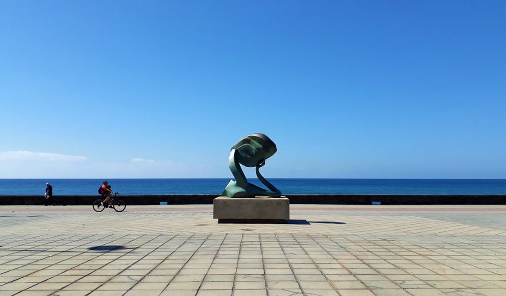 canaries lanzarote arrecife parc sculpture