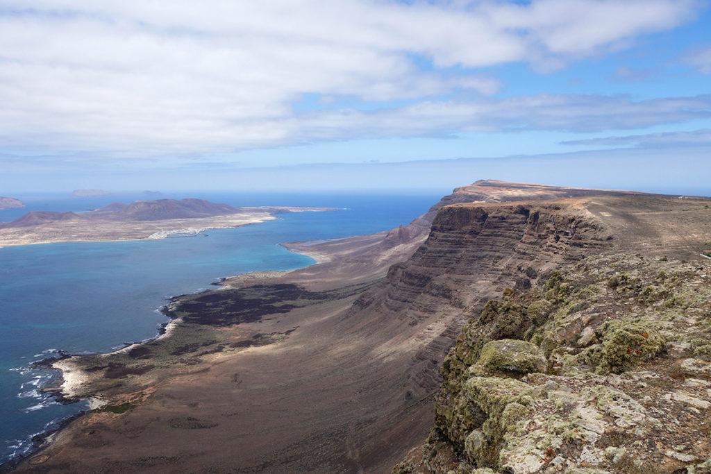 canaries lanzarote mirador caldera falaises panorama ile