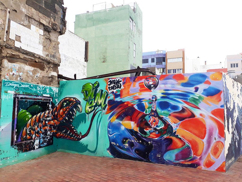 canaries gran canaria las palmas plage playa street art canteras