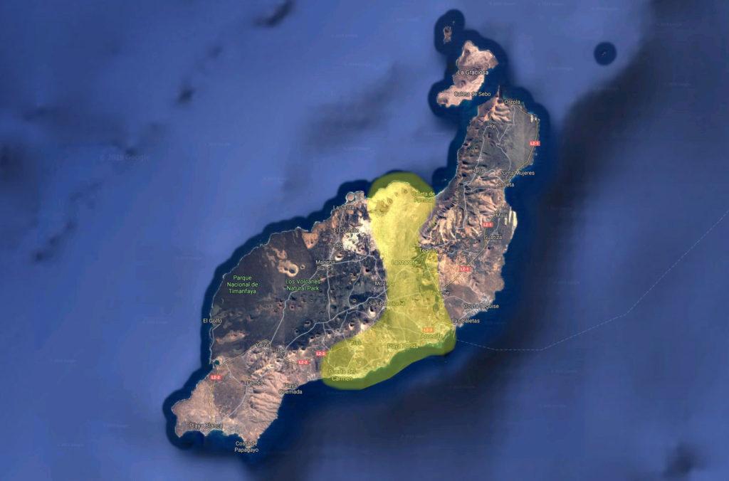 map lanzarote centre carte