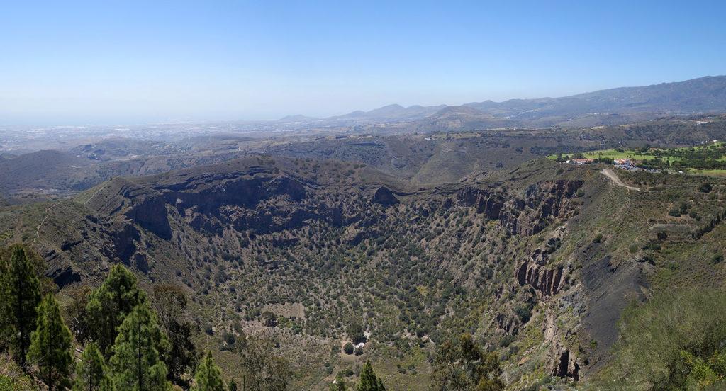 gran canaria canaries pico de bandama montagne volcan caldera caldeira