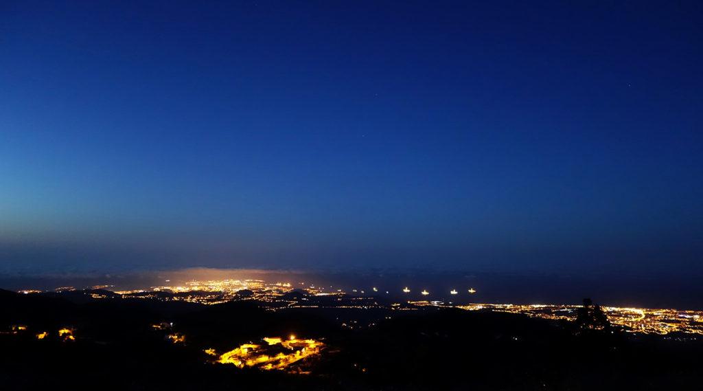 gran canaria canaries pico las nieves paysage panorama sunset nuit night
