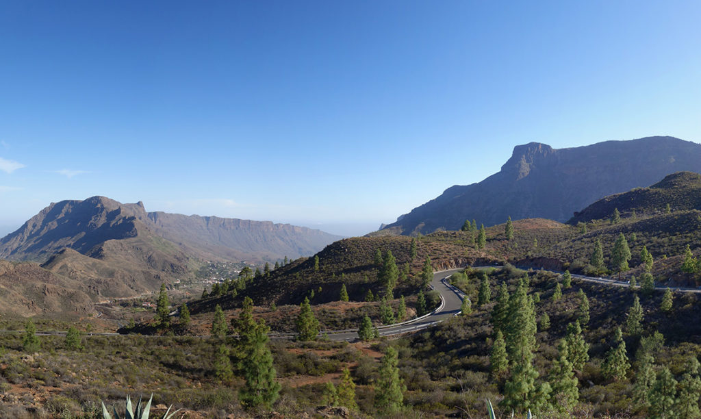 gran canaria canaries route montagne paysage panorama nature