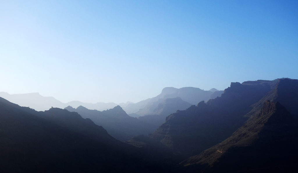gran canaria canaries route montagne paysage panorama nature degollada de la yegua canyon fatage