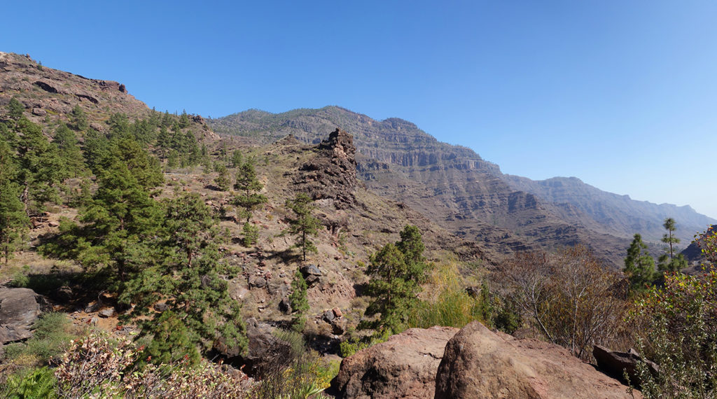 gran canaria canaries gc-605 route panorama paysage montagnes gorge nature