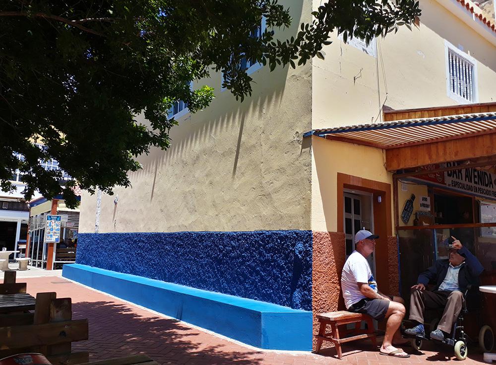 canaries gran canaria los caserones bar cerveja biere beer mer plage village terrasse