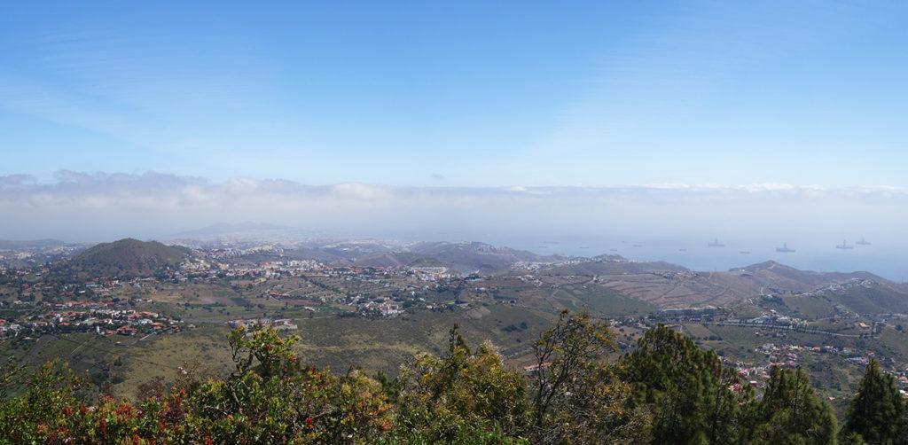 gran canaria canaries pico de bandama montagne volcan panorama