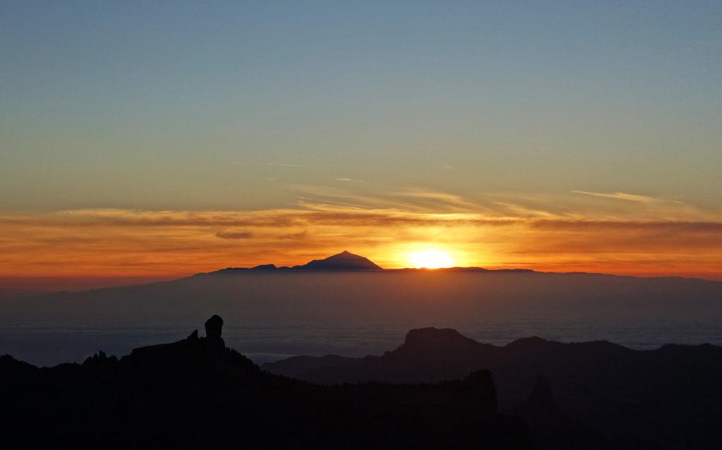 gran canaria canaries pico las nieves paysage panorama sunset