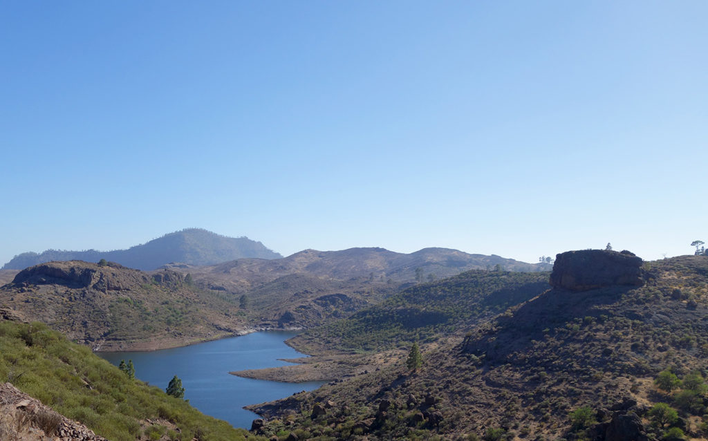 gran canaria canaries gc-605 route panorama paysage montagnes gorge nature lac barrage