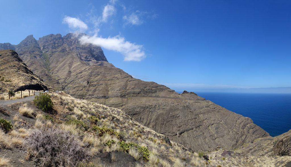 canaries gran canaria gc-200 route montagne falaise road mer ocean