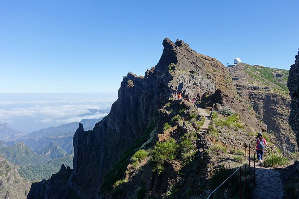 Madère – Pico do Areiro vers le Pico Ruivo